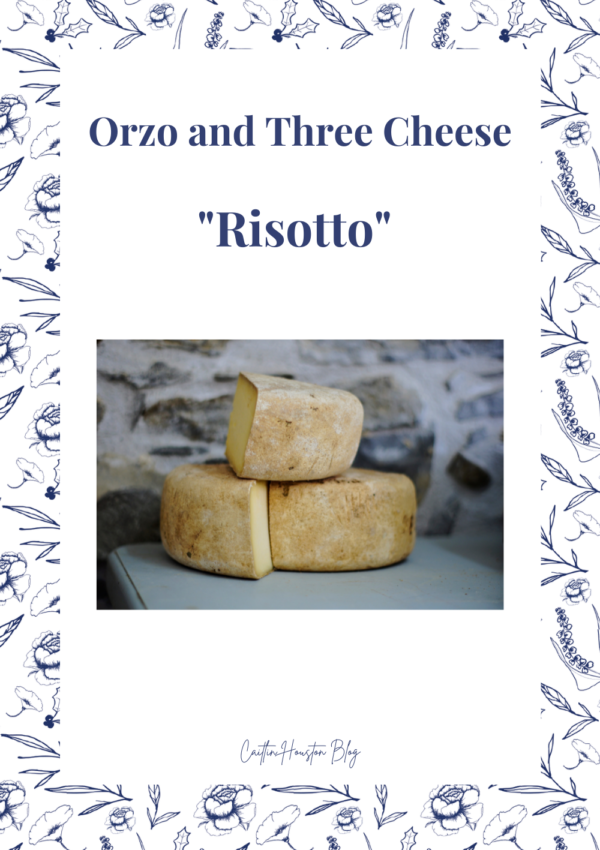 """Orzo and Three Cheese """"Risotto"""""""