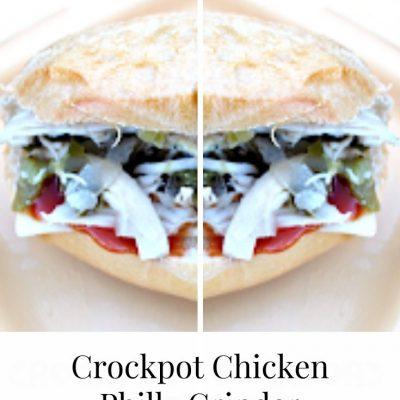 Crockpot Chicken Philly Grinder