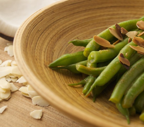 Coconut Almond Green Beans