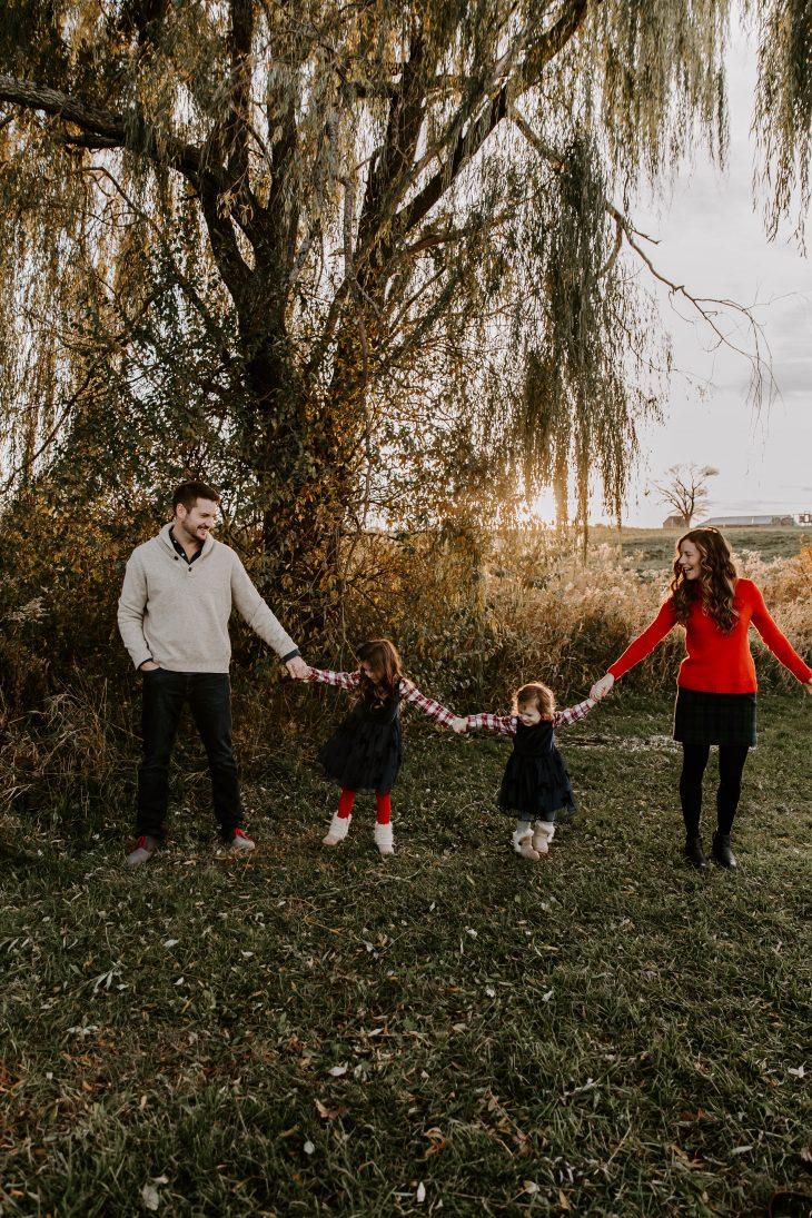 Christmas Family Photos at Vineyard