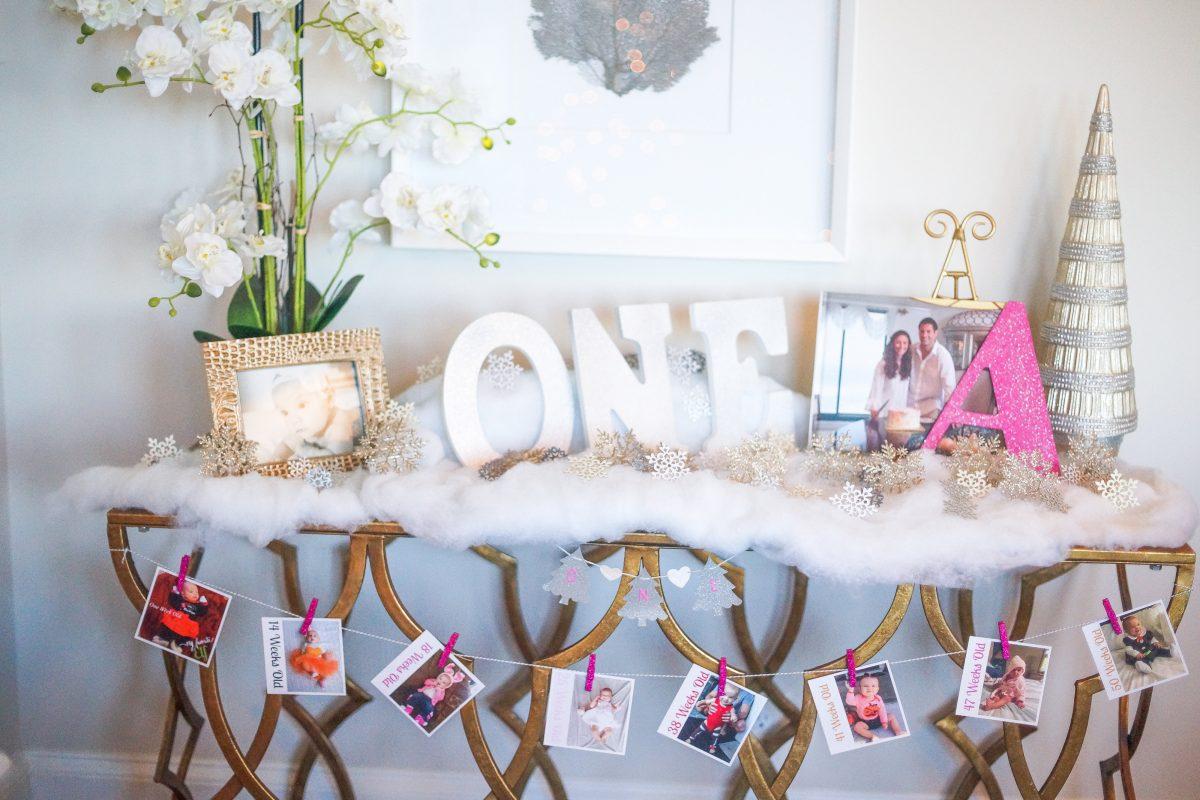 Winter Wonderland ONEderland Birthday Party Decorations