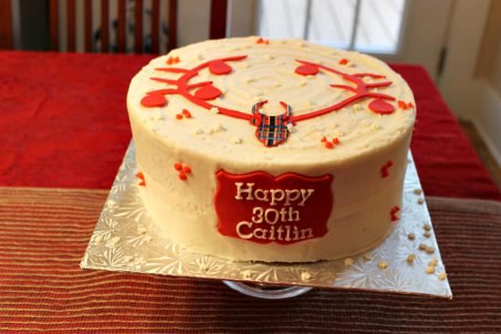 Plaid Winter Birthday Cake