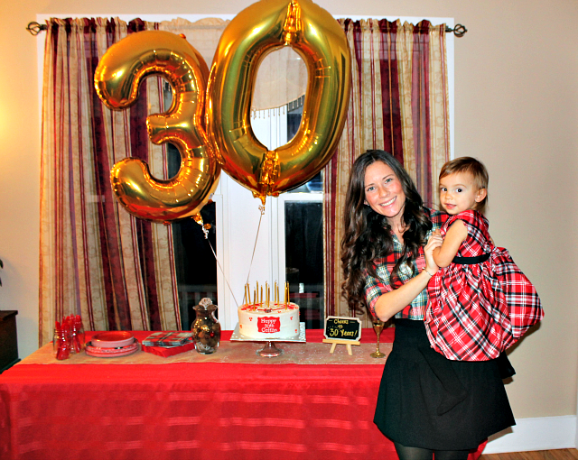 Cheers to 30 plaid themed party