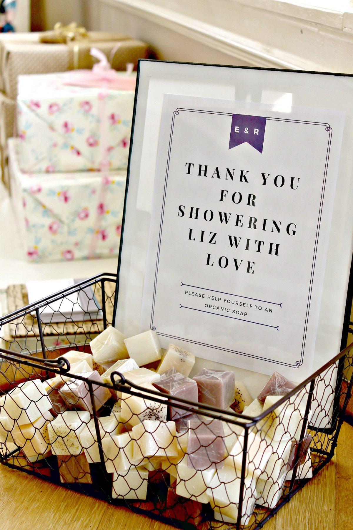 Handmade Soap Favors for Wedding Shower