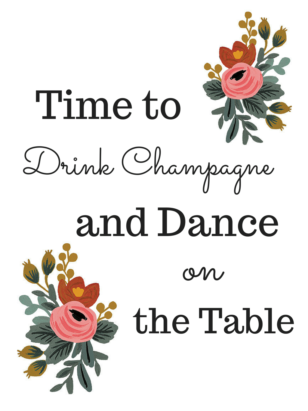 Drink Champagne Bachelorette Party Graphics