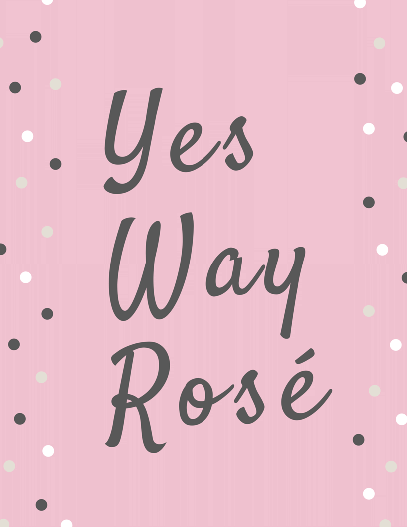 Yes Way Rose Bachelorette Party Graphic