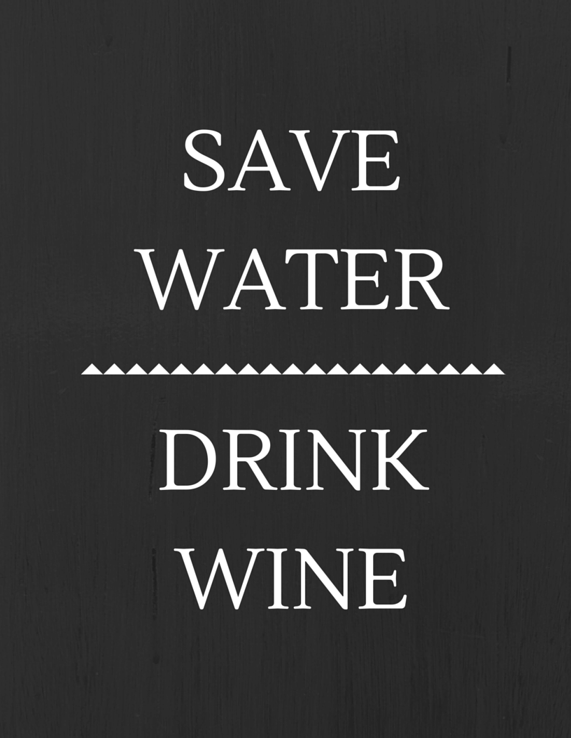 save water drink wine Bachelorette Party Graphics