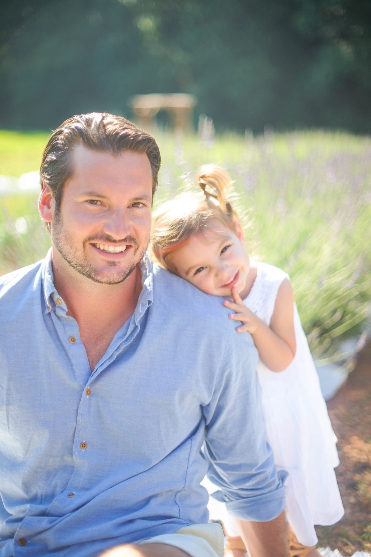 Daddy and Daughter Photo at Lavender Farm