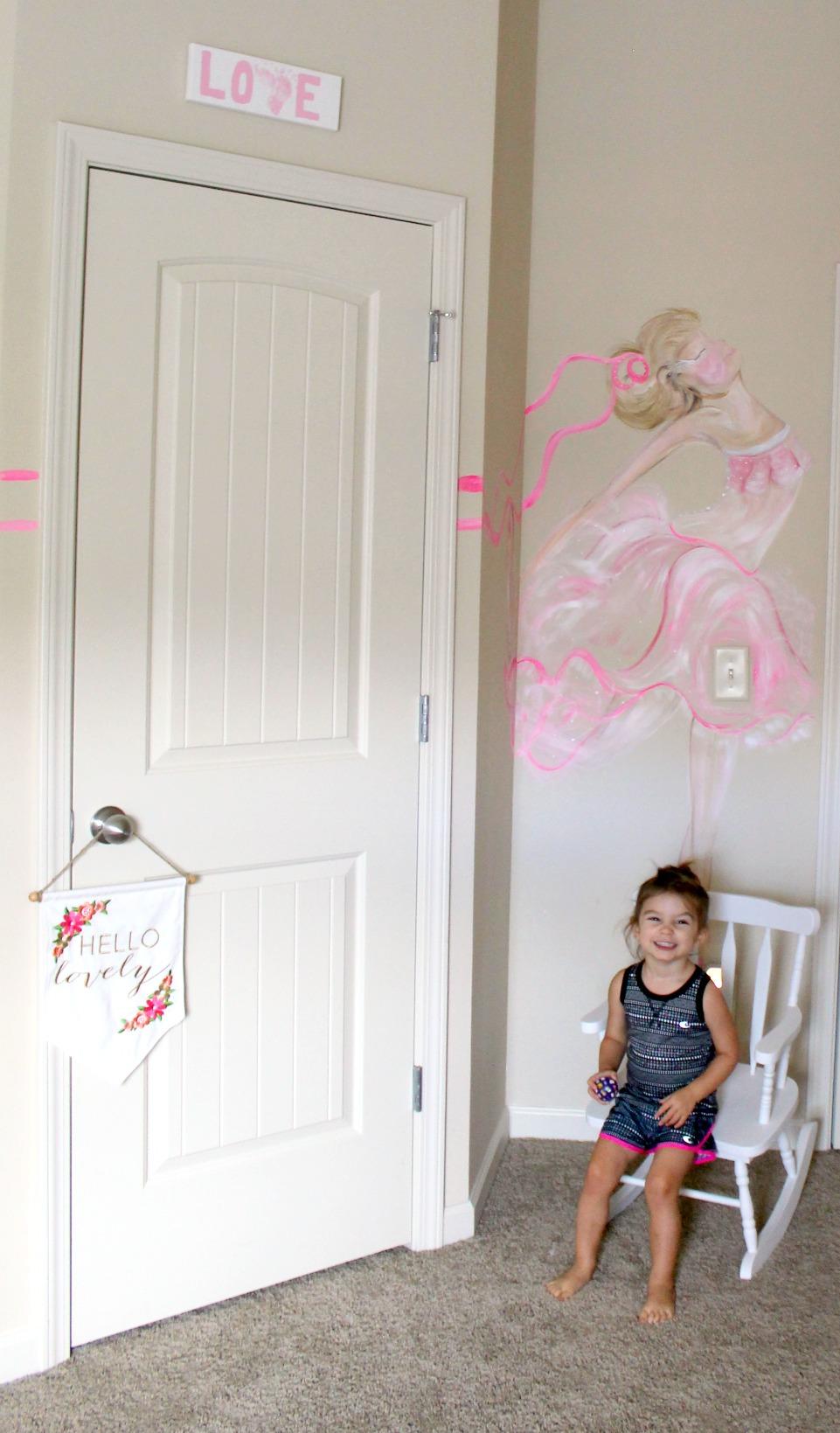 Ballerina Bedroom Mural