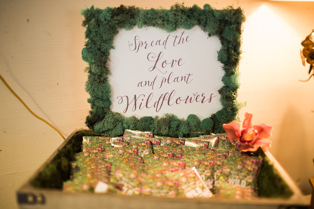 Spread the Love and Plant Wildflowers Wedding Details