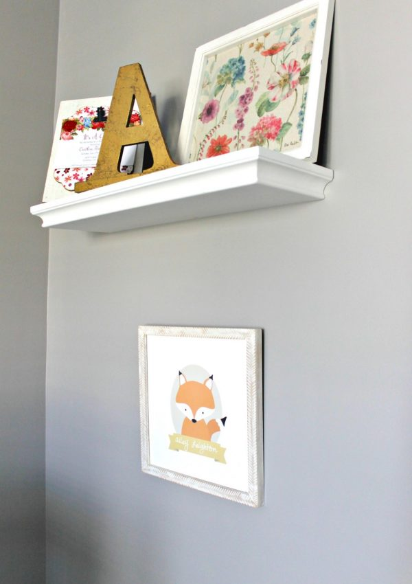 Ballerina and Fox Personalized Wall Art