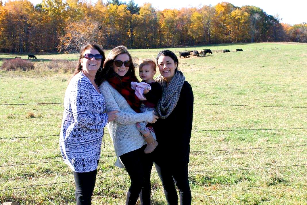 Female family members on fall day in New Englad