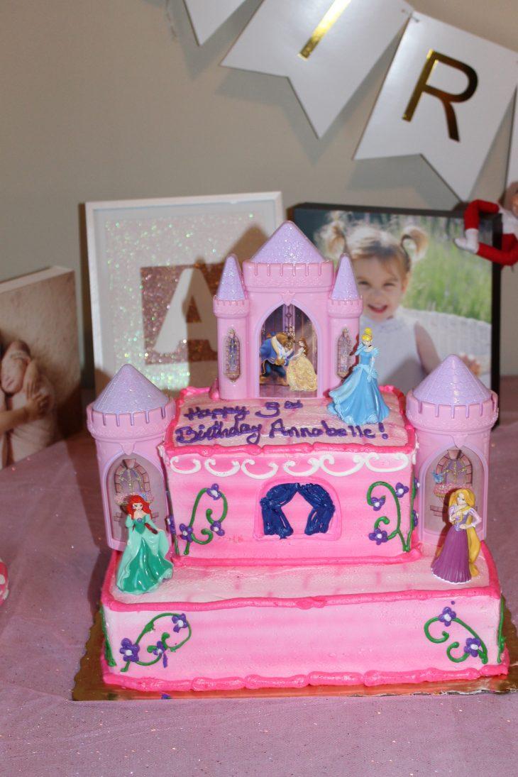 Princess Cake at Ballerina Themed Birthday Party
