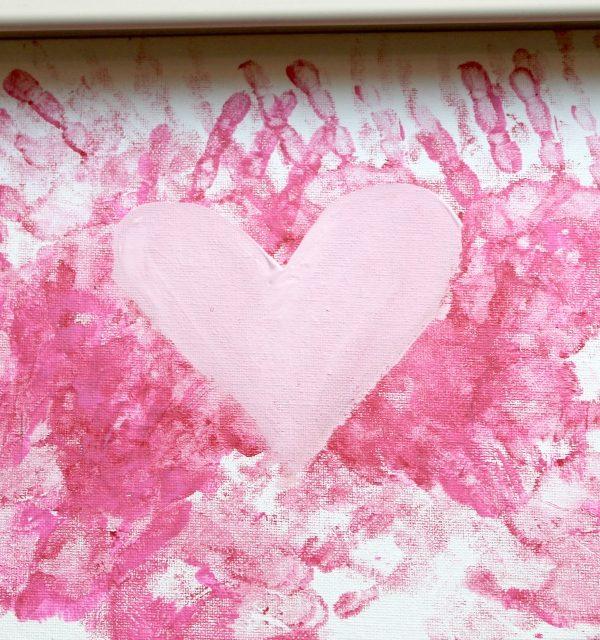 DIY Handprint Valentine Crafts