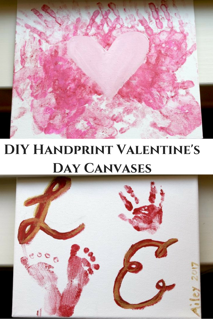 Handprints in Red and Pink for Valentine's Day