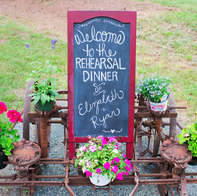 Welcome to the Rehearsal Dinner sign