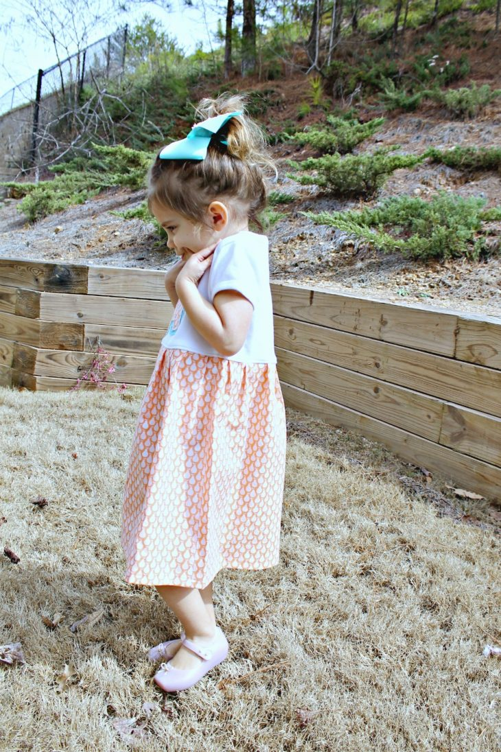 Little Girl in Dress Three Year Old Annabelle Update
