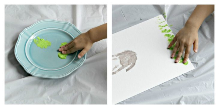DIY Easter Handprint Bunnies