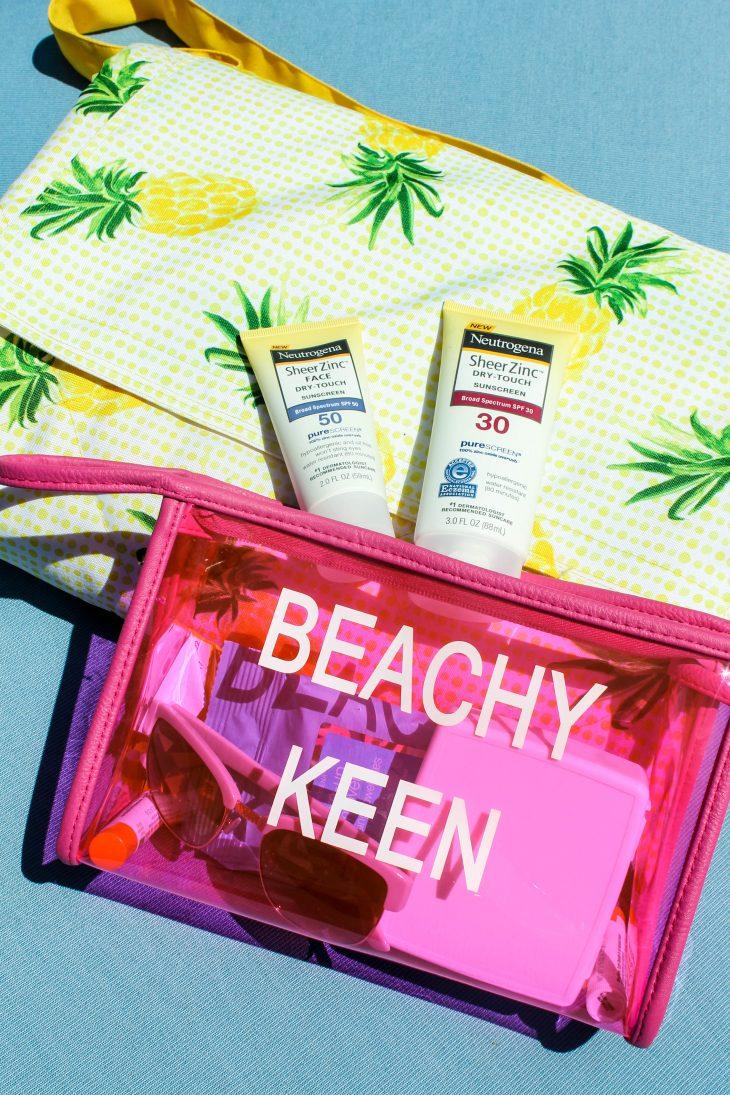 Sunscreen and sun blanket kit