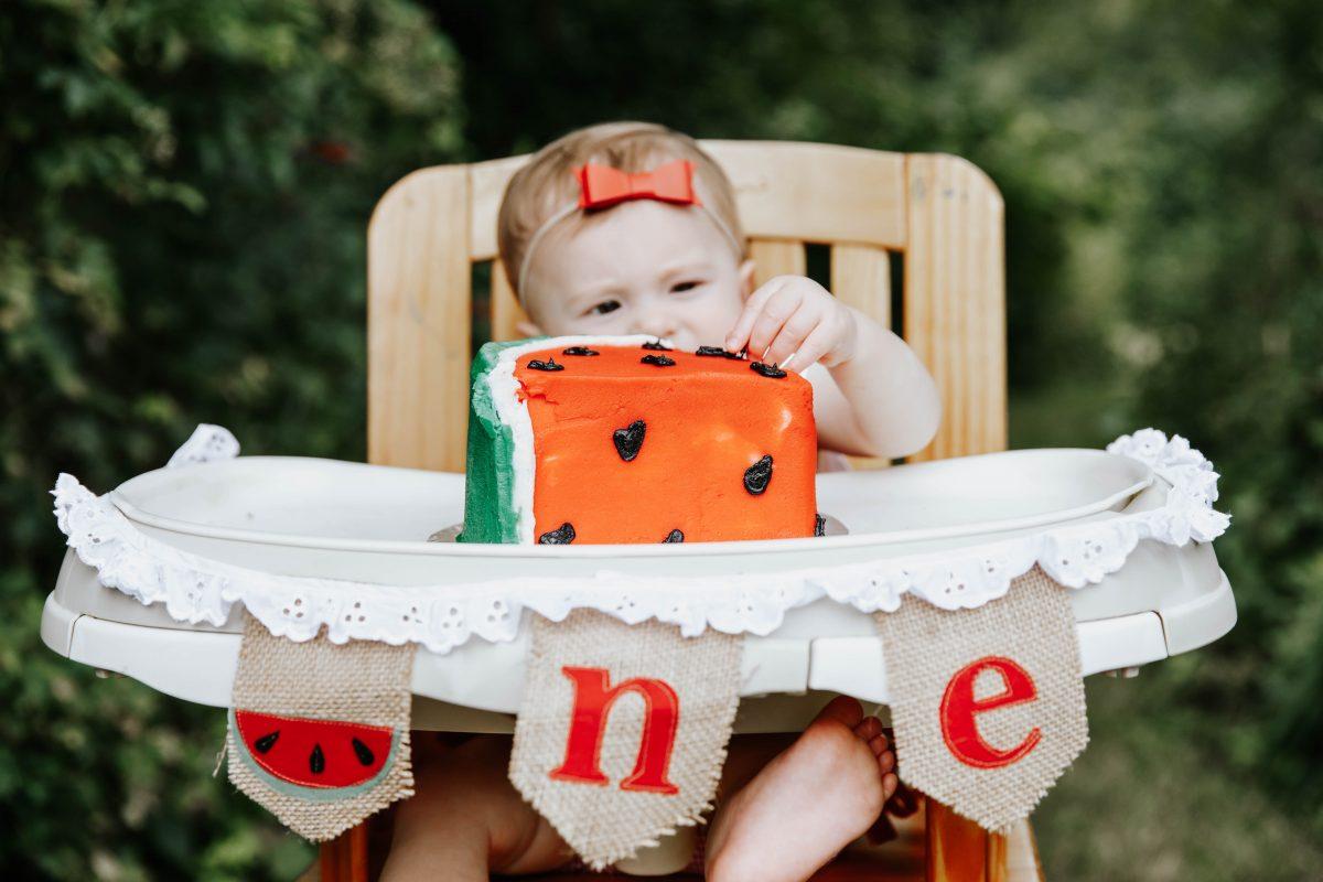 watermelon high chair banner