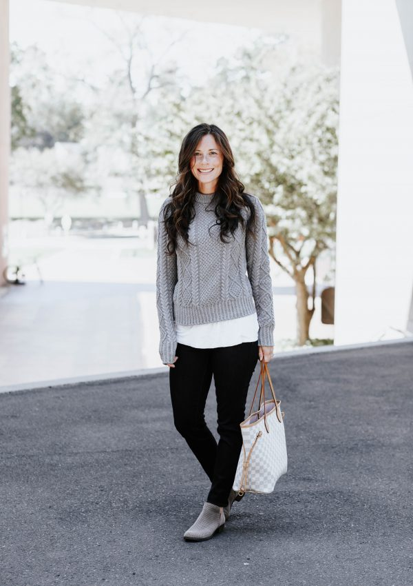 A Cold Weather Staple // L.L. Bean Fisherman Sweater