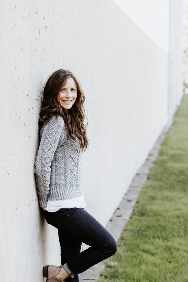 Gray Cable Knit Sweater Perfect for Winter