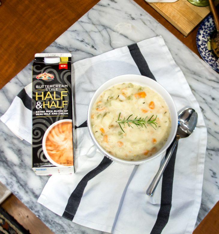 Half and Half with Potato Soup