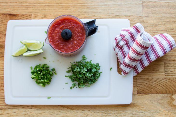 Shredded Chicken Nacho Recipe with Homemade Salsa