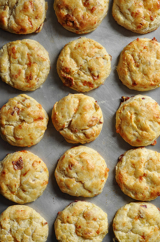Breakfast Scone small circle potato bacon chives