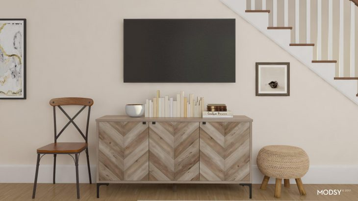 Television Console Rustic Wood