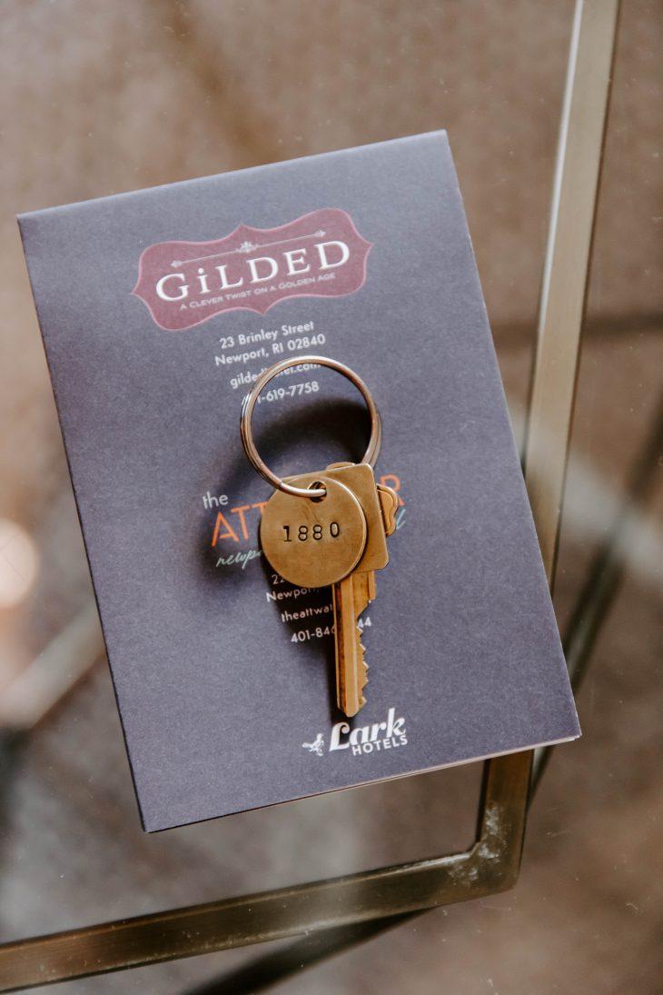 Hotel room Keys on Card