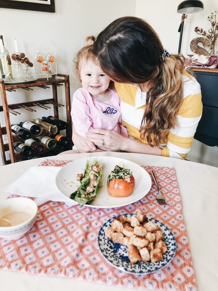 Mom and Daughter with Meal