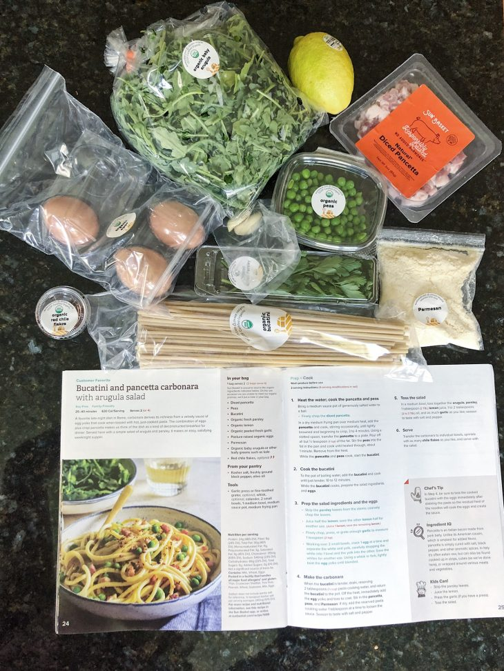 ingredients for pasta dish