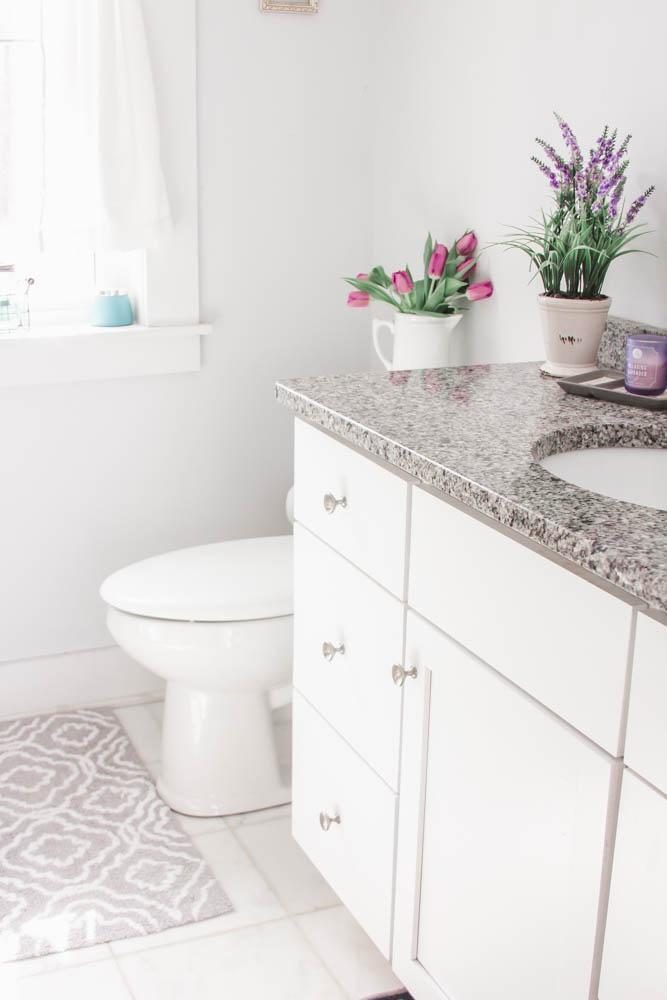 White Sparkling Clean Bathroom