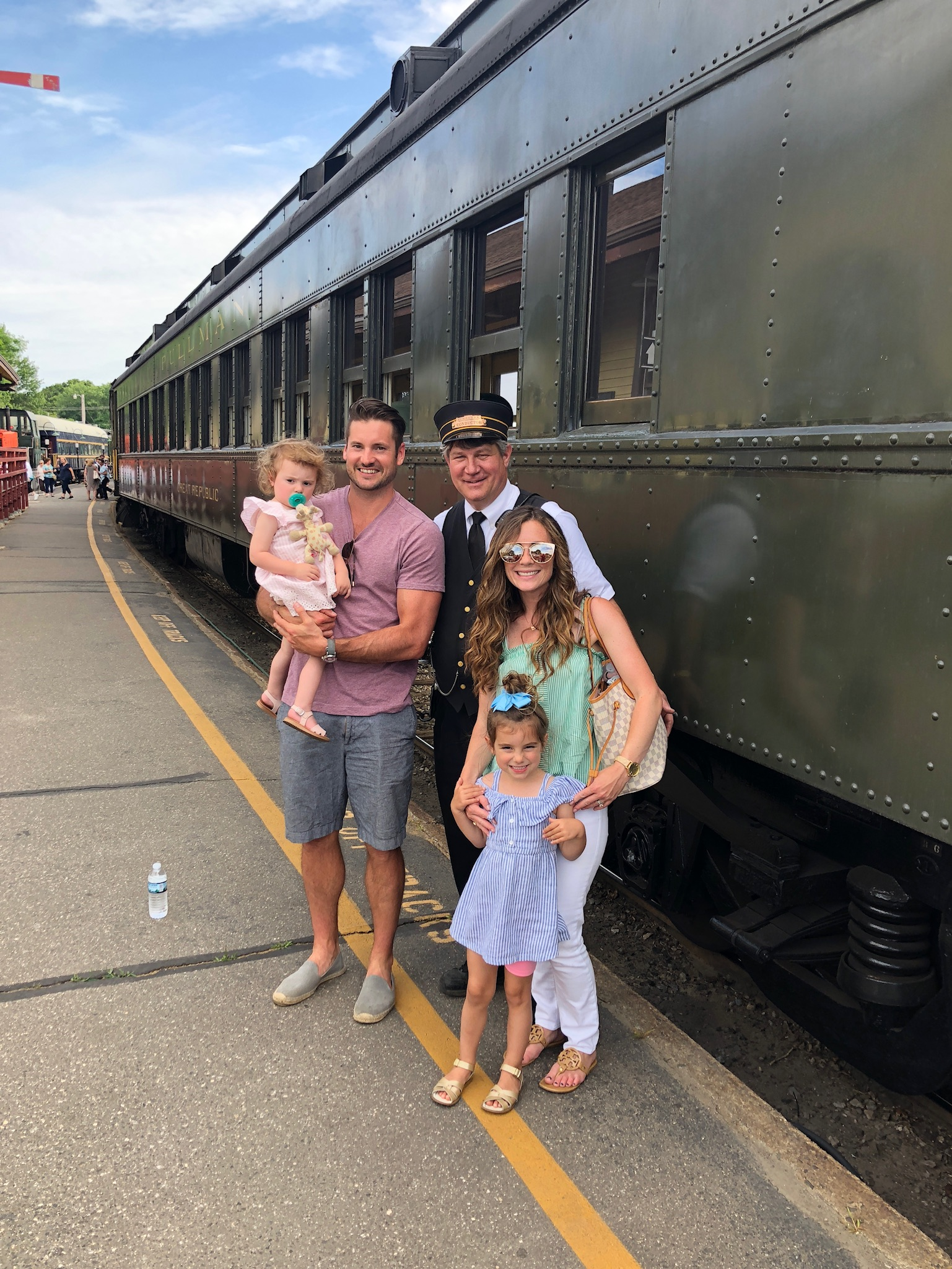 Essex Steam Train Conductor and Family