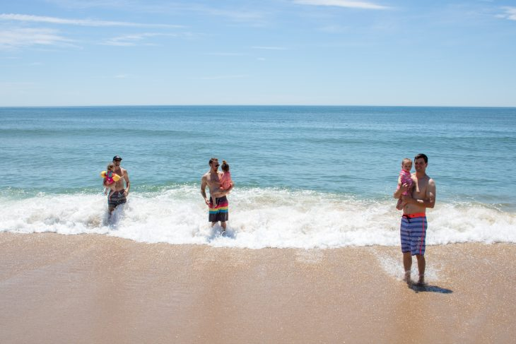 Dads and Kids on the Beach - Hamptons
