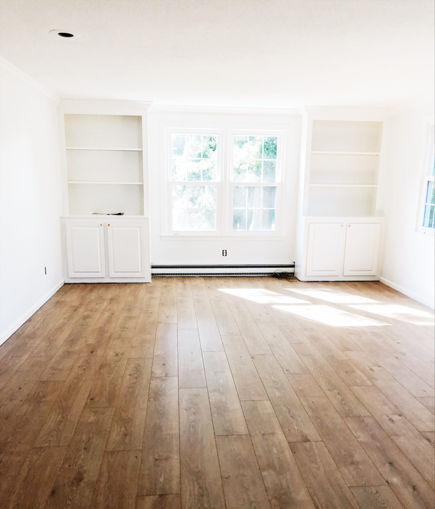 Family Room Before/After Renovation