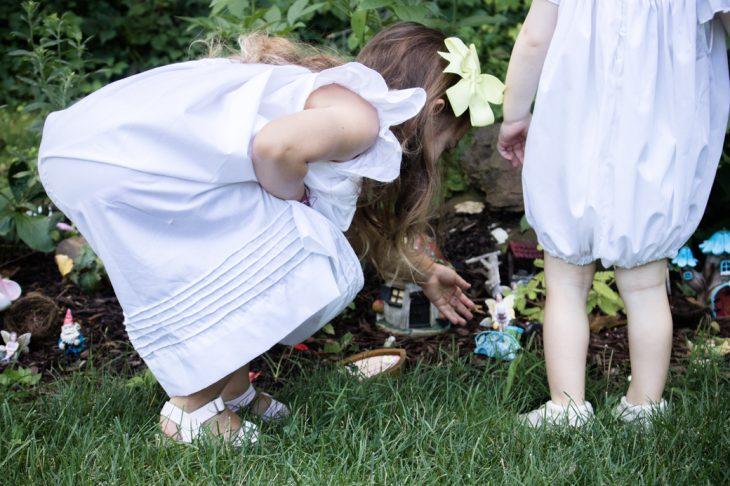 Children playing in Fairy Garden