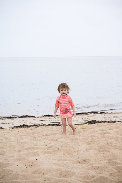 Two Year Old Toddler at the Beach