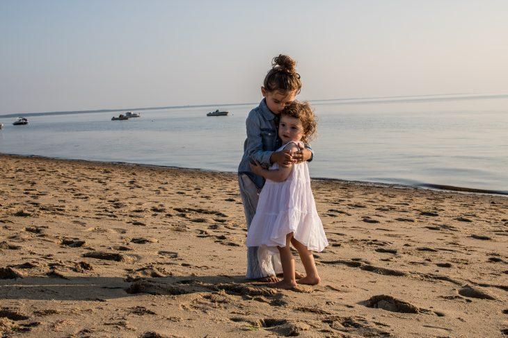 Little Girls on Beach