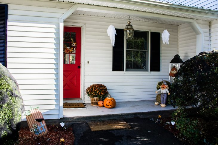 Breezeway White House Colonial Black Shutters Red Door