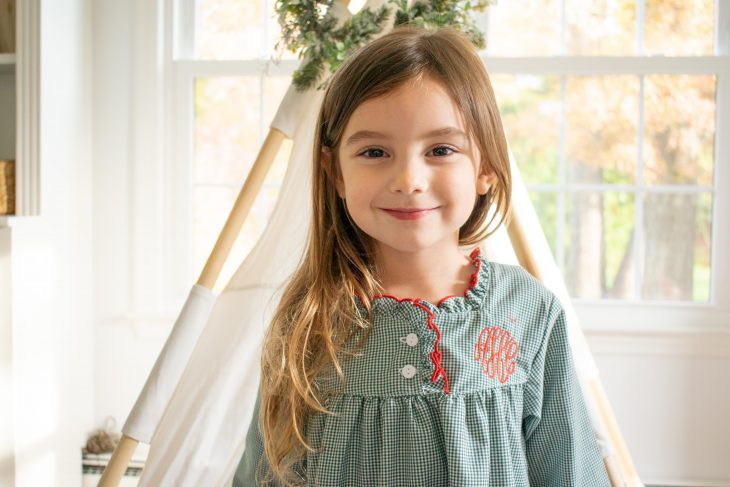 Monogrammed Christmas Nightgown