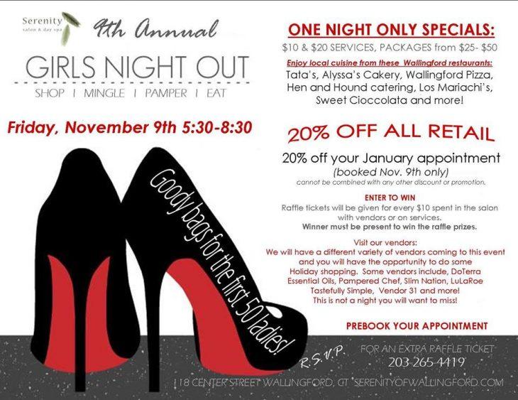 Girls Night Out at Serenity Salon Wallingford CT