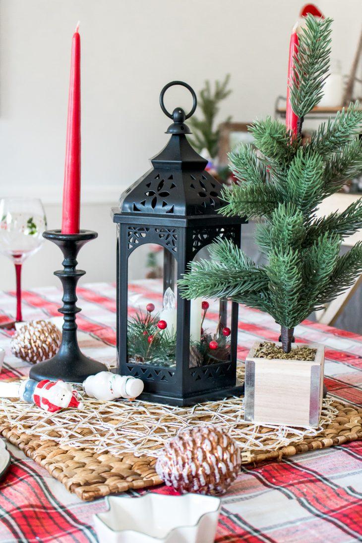 Black Lantern Red Candles Christmas Tree Boscov's