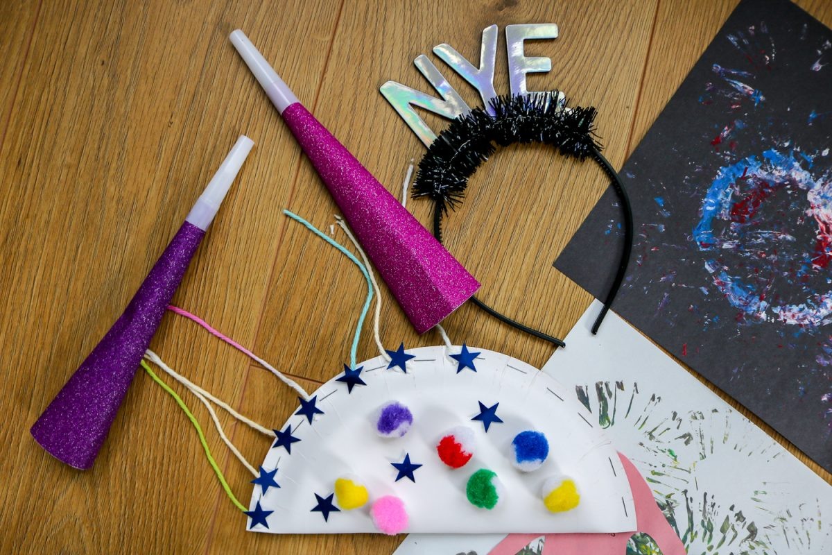 Homemade Noisemaker for Kids -New Year's Eve Crafts for Kids