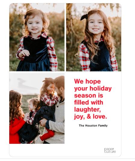 Houston Family Christmas Card
