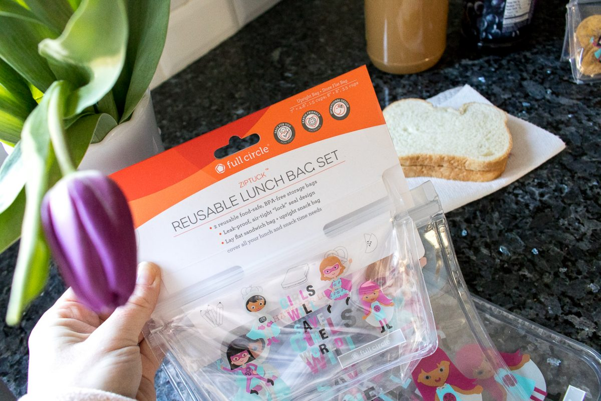 Reusable snack bags that say Girls Will Save the World