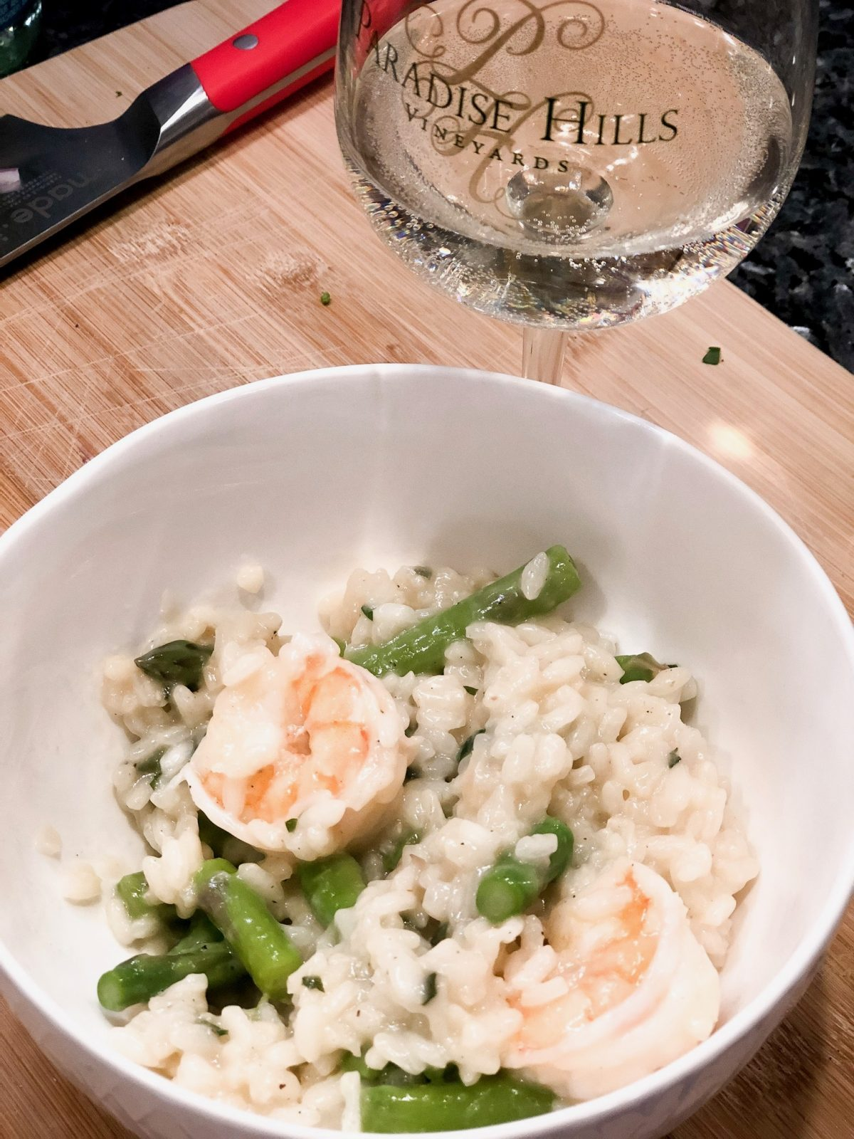 Dairy Free Shrimp and Asparagus Risotto - Confessions of a Northern Belle