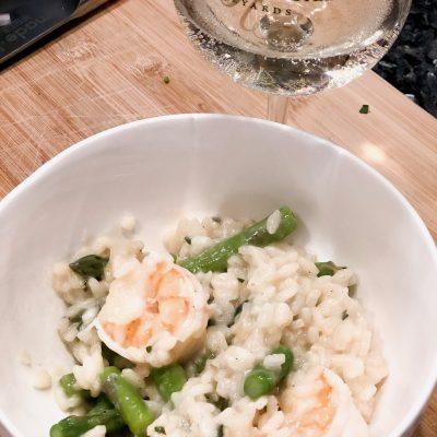 Shrimp and Aspargus Risotto