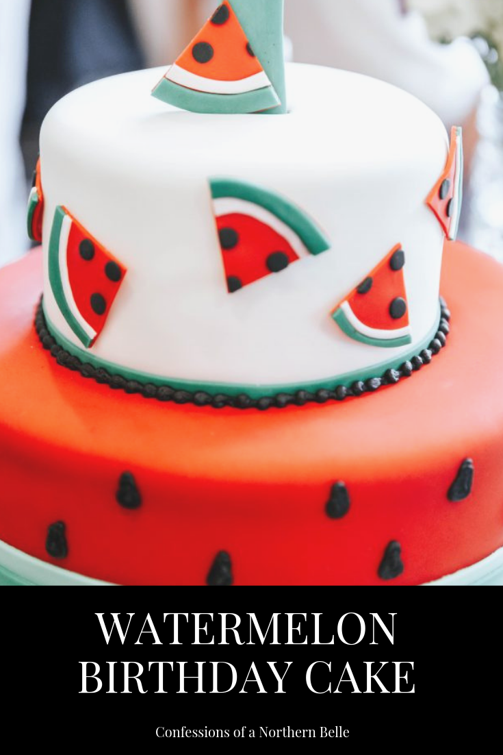 Watermelon Themed Birthday Cake for First Birthday
